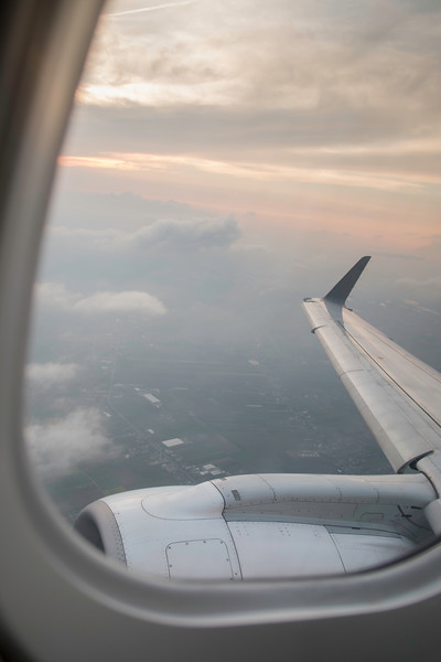 View from a passenger airliner