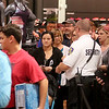 Jonathan Tressler - The News-Herald<br /> Hundreds of sports fans lined up throughout the Dick's Sporting Goods store inside the Great Lakes Mall in Mentor Oct. 19 to score Cleveland Indians gear after the Tribe defeated the Toronto Blue Jays in game 5 of the ALCS.