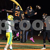 Sam Buckner for Shaw Media.<br /> Jalon Redmond celebrates Trenton Kyler's touchdown in the first quarter against Geneseo on Friday October 19, 2018.