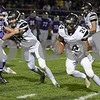 Sam Buckner for Shaw Media.<br /> Manuel Dominguez runs the ball by Rochelle defenders on Friday October 20, 2017.