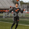 Dekalb Jesus Becerra (20) keeps a close eye on the ball during the first half of the regional title game agents Crystal Lake Central on October 20th.