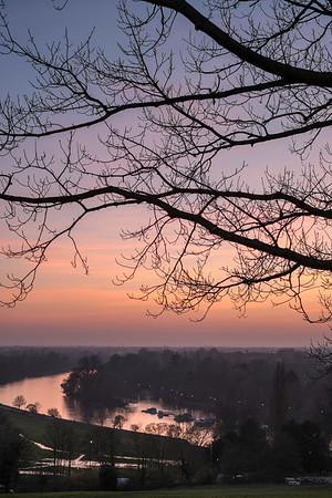 View of Thames River and Surrey from Richmond, London, United Kingdom