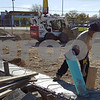 The foundation for a new Hardee's on DeKalb Avenue was poured Wednesday. On Thursday, Pedro Campuzano was part of a crew removing the forms to allow plumbing and electrical work to begin.