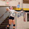 Sam Buckner for Shaw Media.<br /> Amanda Swedberg serves the ball to North Chicago on Monday October 23, 2017.