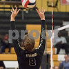 Sam Buckner for Shaw Media.<br /> Ella Carpenter sets the ball on Monday October 23, 2017.