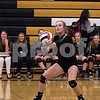 Sam Buckner for Shaw Media. Sophia Weaver bumps the ball on Monday October 23, 2017.