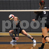 Kaneland player Katie Jablonski receives serve in the Burlington Central Regional tournament on Tuesday night.  Steve Bittinger - For Shaw Media