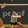 Kaneland player Julianna Vassallo reaches for the ball in the Burlington Central Regional tournament on Tuesday night.  Steve Bittinger - For Shaw Media