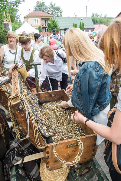 Market and fair popular with Lithuanians, Punsk, Suwalskie Region, Poland