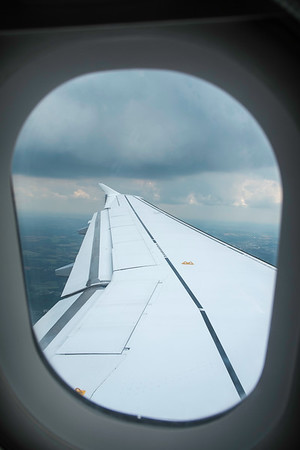 View from a window seat, airplane Heathrow to Dusseldorf,