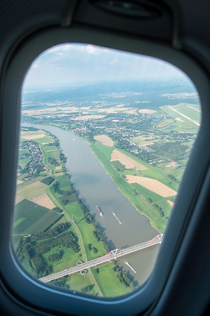 View from a window of an airplane
