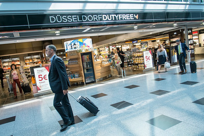 Duty free shops, Dusseldorf Airport, Germany