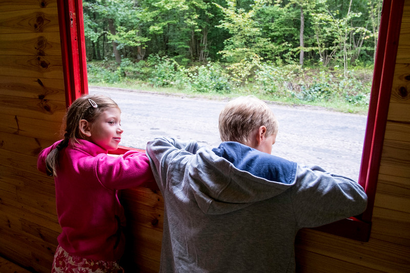Visit to Wigry National Park by narrow gauge railway, Poland