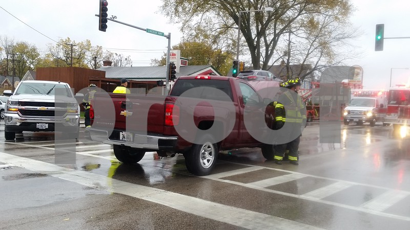 """The driver of the red Silverado was cited for failure to obey a traffic device.<br /> <br /> DeKalb Fire also assisted at the scene, which was cleared by about 11:20 a.m. Both trucks were towed from the scene.<br /> <br /> """"Everybody's fine, and we're just about cleaned up here,"""" Jurisch said. """"It could have been worse."""""""