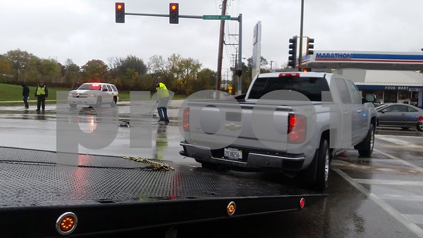 Jurisch said about 10:40 a.m., a red Chevrolet Silverado eastbound on Lincoln Highway failed to stop at a red light at the intersection and T-boned a silver Chevrolet Silverado that was northbound on Pearl Street.