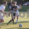 Sam Buckner for Shaw Media.<br /> John McCaffrey passes the ball on Wednesday October 25, 2017 at Wheaton Acadamy High School.