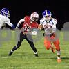 Sam Buckner for Shaw Media.<br /> Justin Peters runs the ball on Friday October 25, 2019 at Stillman Valley High School.