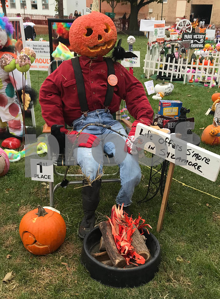 Adults carved, scarecrow, general first place Susan Lloyd, Jenny Ruff & Kelly Ostrom