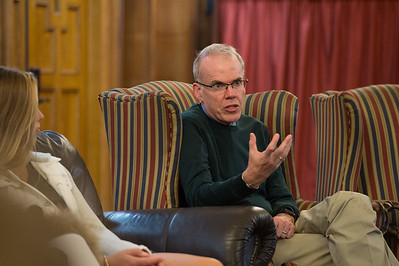 Bill McKibben speaks during Morning Meeting