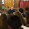 Bill McKibben speaks during Morning Meeting