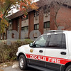 Photos by Drew Zimmerman – dzimmerman@shawmedia.com<br /> <br /> The DeKalb Fire Department responded about 6:30 a.m. and saw heavy smoke and fire coming for a one-bedroom unit in apartment 215 once they got into the building, according to a press release from the department.<br /> <br /> The fire was put out within 15 minutes, but firefighters found an unresponsive victim in the bedroom. DeKalb County Coroner Dennis Miller said the victim, identified as 30-year-old Ceasar Collins, was taken to Kishwaukee Hospital and was pronounced dead about an hour later. Family was notified, Miller added.