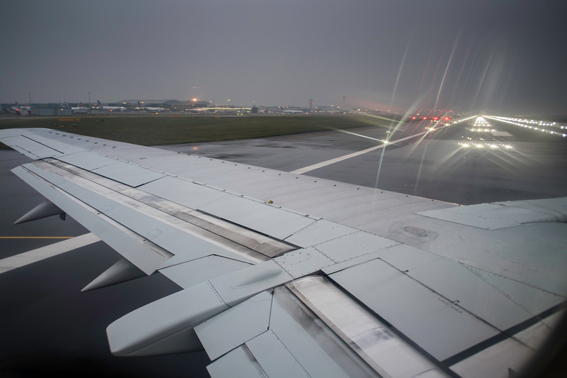 Airplane taxing for take off, Heathrow, London, UNited Kingdom