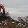Kristi Garabrandt — The News-Herald <br> A fire occurred at an East Cleveland landfill formerly owned by Arco Recycling, located at 1075 Noble Road. Firefighters were on the scene. Officials declined to comment further on the fire.