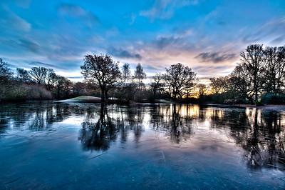 Hollow Pond at sunrise, London, United Kingdom