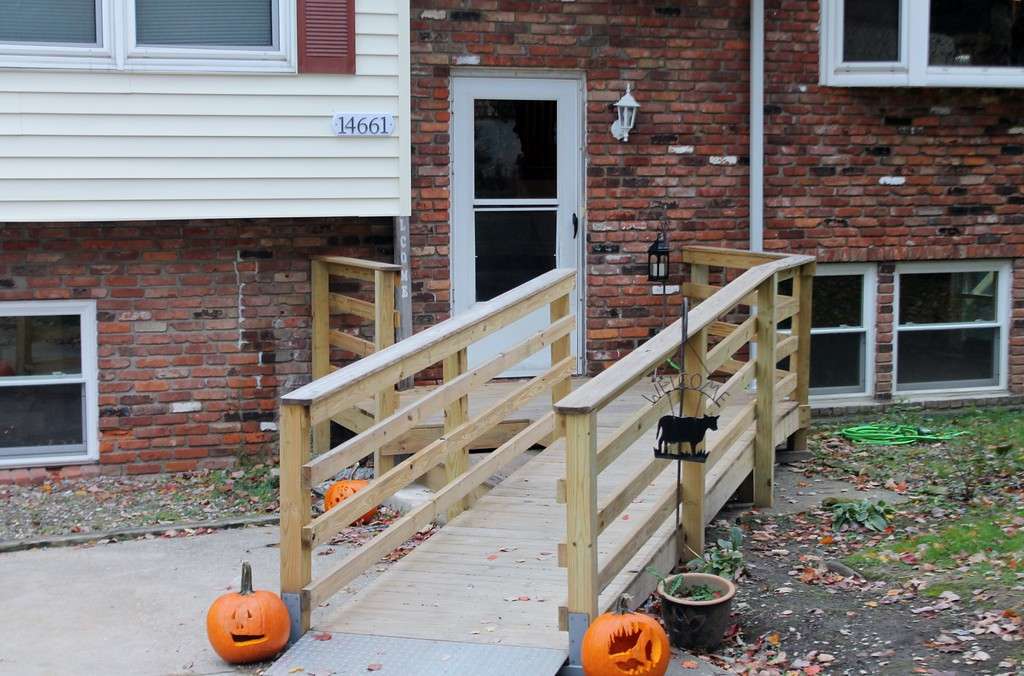 . Kristi Garabrandt - The News-Herald  Work on the house, included installing a wheel chair accessible ramp.