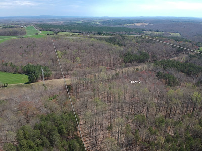 Aerial from cabin to power line on tract 2