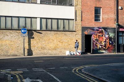 Graffiti on the wall, Hoxton Strteet, London, United Kingdom