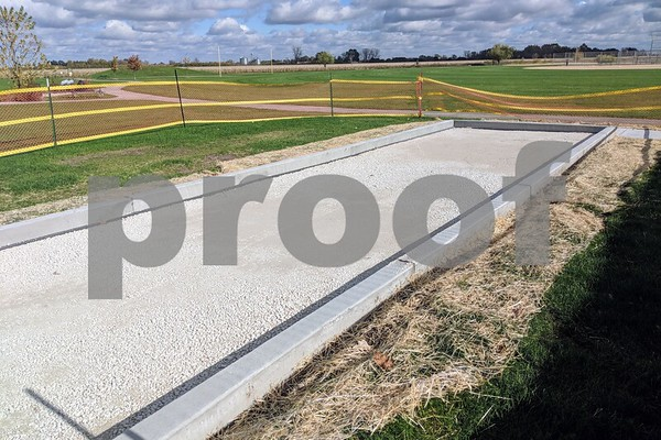 The bocce court still requires turf and markings, but the boundaries are laid out. Bafia said the park district would look into having leagues for all of the new sports if there is enough interest.