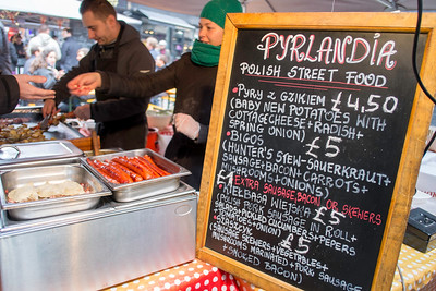 Street food, market stalls, Soho, London, United Kingdom