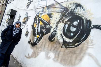 Wall in graffiti, East London, London, United Kingdom