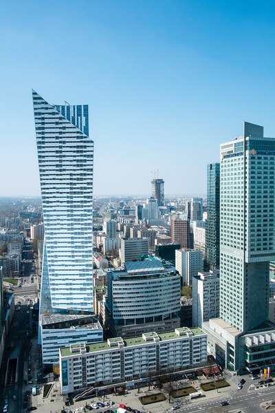 View from viewing gallery of Palace of Culture and Science, Warsaw, Poland