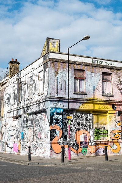 Derilict pub, Hackney Wick, London, United Kingdom