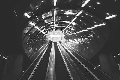 Newly opened underground system, Poland