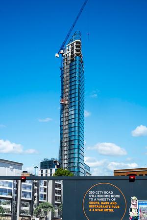 Building construction, City Road, London, United Kingdom