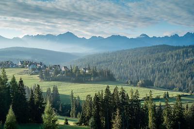 Tatra Mountains seen from Bukowina Tatrzanska, Poland