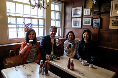 Tomiko Ogawa, Yuriko Shinkai, Takako Akashi in UK