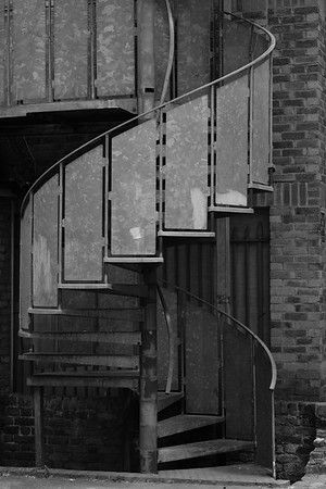 Staircase in the back street, Hammersmith, London, United Kingdom