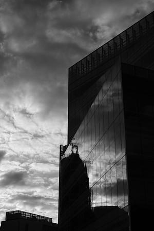 Modern architecture by Hammersmith Broadway, London, United Kingdom