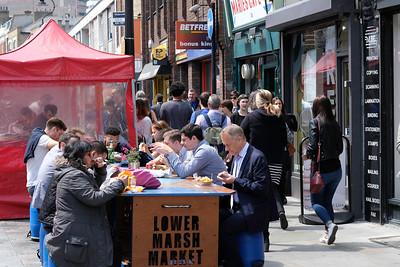 Street market on Lower Marsh, waterloo, London, United Kingdom