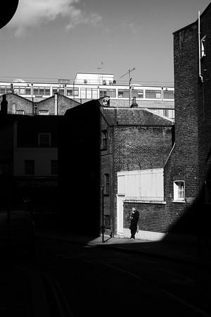 Narrow street, London, United Kingdom