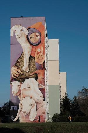 Mural , Lodz Retkinia, Lodz, Poland