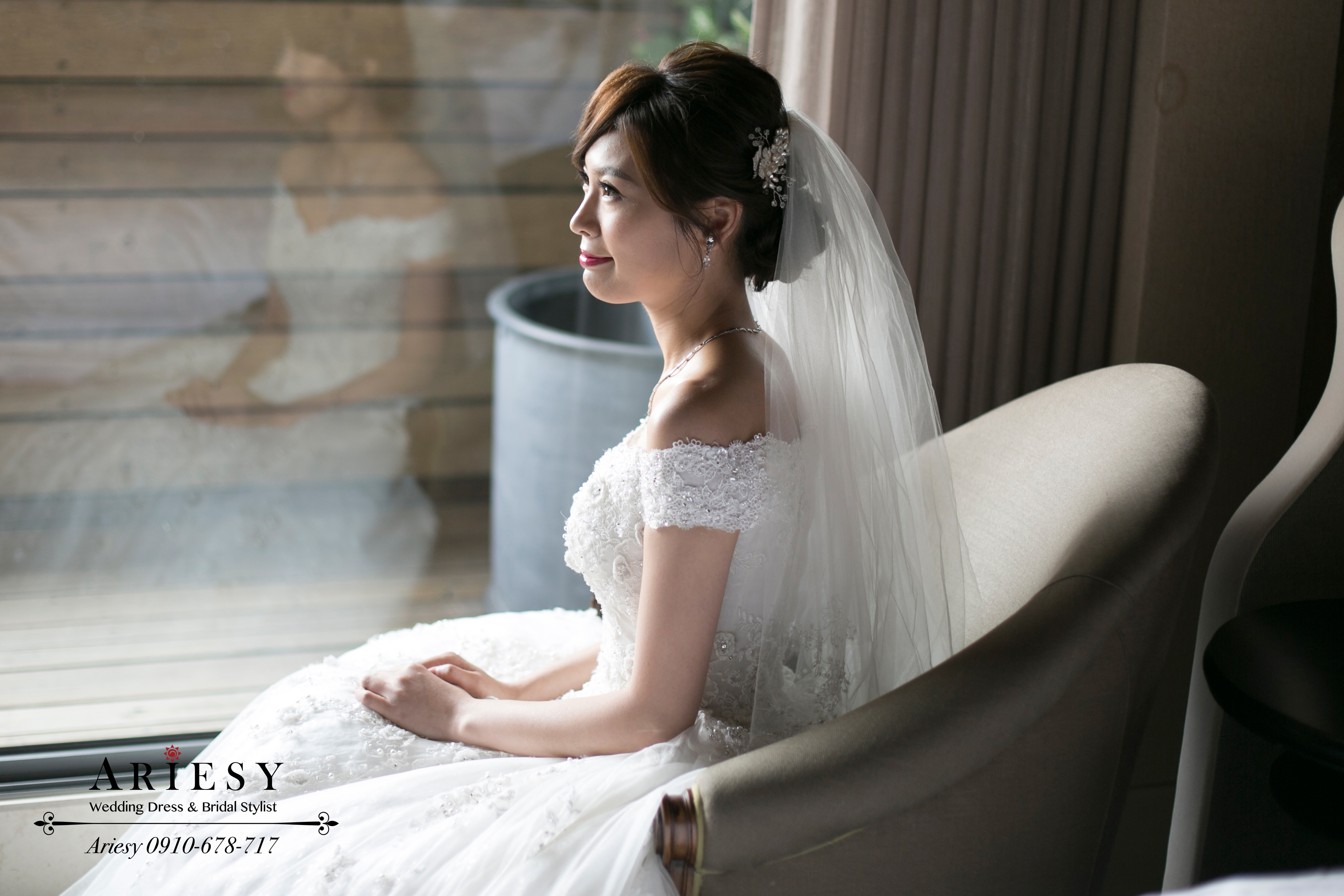 愛瑞思,台北新秘,新娘秘書,新娘髮型,鮮花編髮