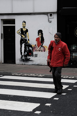Graffiti on the wall, Camden Town, London, United Kingdom