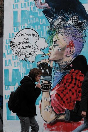 Graffiti in Brick Lane, East London, London, United Kingdom