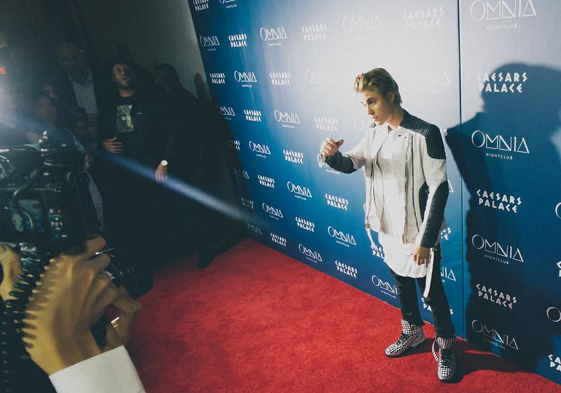 Justin Bieber celebrates his 21st birthday at Omnia Nightclub at Caesars Palace Shot by Santiago Interiano