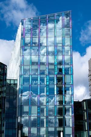 Modern Architecture on Euston Road, London, United Kingdom